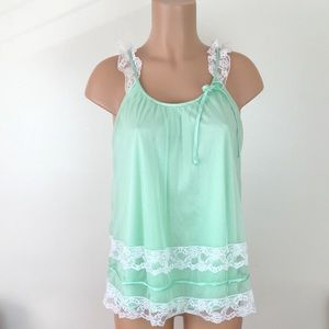 Vintage 60s Peignoir Nylon Lingerie Nightie